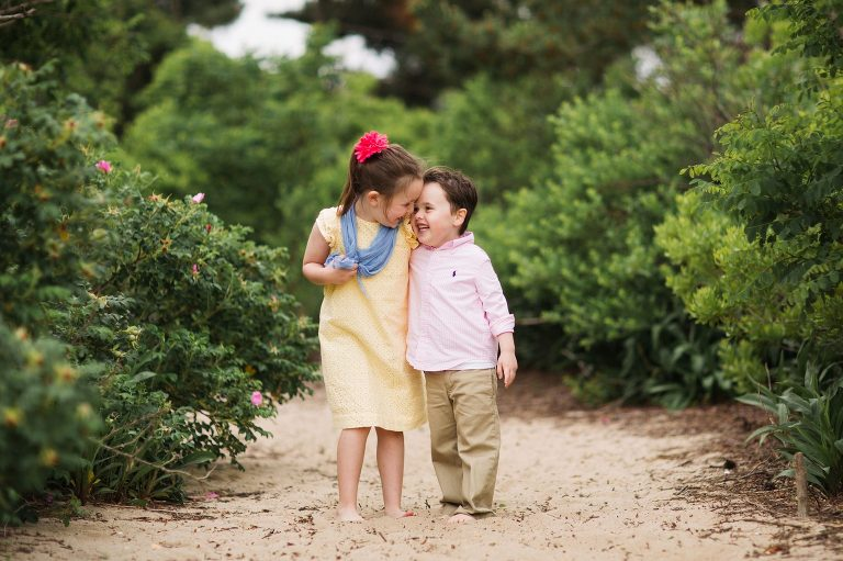Kids have fun at Belmar beach portrait session